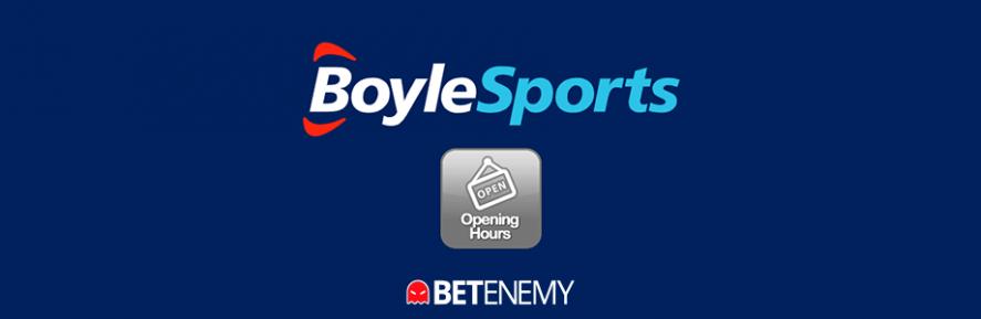BoyleSports opening hours